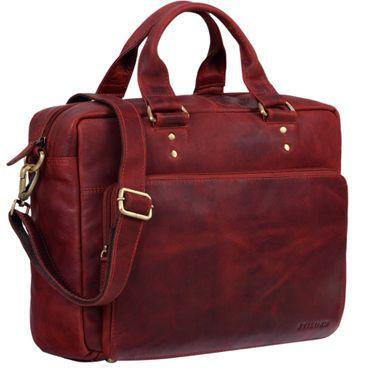 """STILORD """"Jack"""" Ledertasche Aktentasche Herren Vintage Umhängetasche für Büro Business Arbeit 13,3 Zoll Laptoptasche für große DIN A4 Aktenordner echtes Leder – Bild 9"""