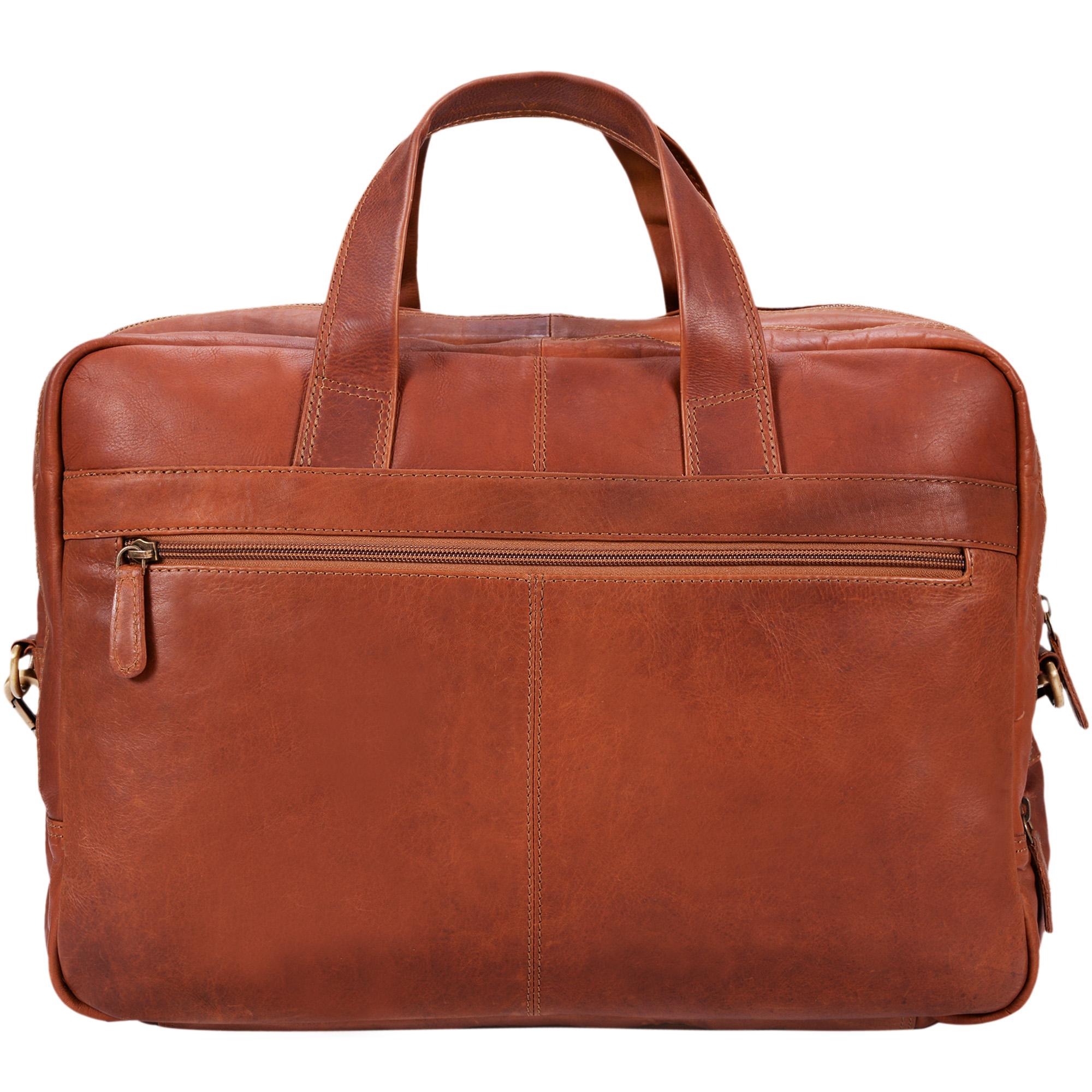 """STILORD """"Alan"""" Leder Umhängetasche groß Herren Damen Vintage 15,6 Zoll Laptoptasche XL Arbeitstasche Lehrertasche Arbeit Büro Uni echtes Leder  - Bild 6"""