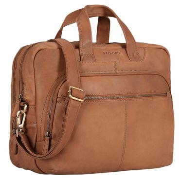 """STILORD """"Alan"""" Leder Umhängetasche groß Herren Damen Vintage 15,6 Zoll Laptoptasche XL Arbeitstasche Lehrertasche Arbeit Büro Uni echtes Leder  – Bild 8"""