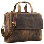"STILORD ""Jasper"" Umhängetasche Business Herren Leder große Messenger Bag für 15,6 Zoll Laptop Vintage Aktentasche für DIN A4 Ordner aus echtem Leder"