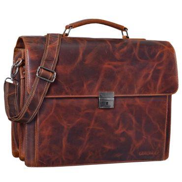 """STILORD """"Johann"""" Klassische Aktentasche Herren Damen Businesstasche für 15,6 Zoll Laptop passend für große DIN A4 Ordner mit Schloss Rinds Leder  – Bild 7"""