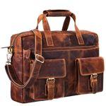 """STILORD """"Ron"""" Vintage Ledertasche 15.6 Zoll Laptopfach große Umhängetasche Herren für Büro Arbeit Uni moderne Aktentasche aus echtem Rinds-Leder"""