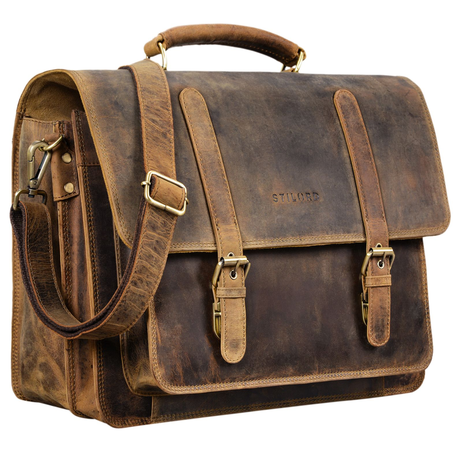 Lehrertasche Aktentasche Herren Leder