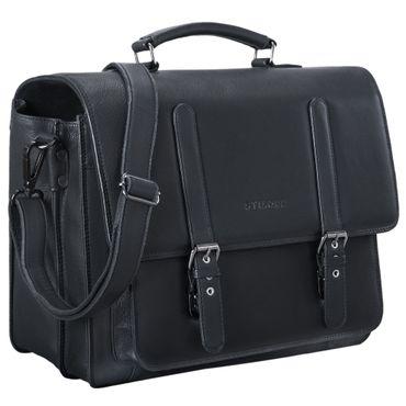 """STILORD """"Andro"""" Lehrer Aktentasche Leder Vintage Umhängetasche mit 14 Zoll Laptop Fach Businesstasche für breite DIN A4 Akten Ordner aus echtem Leder – Bild 10"""