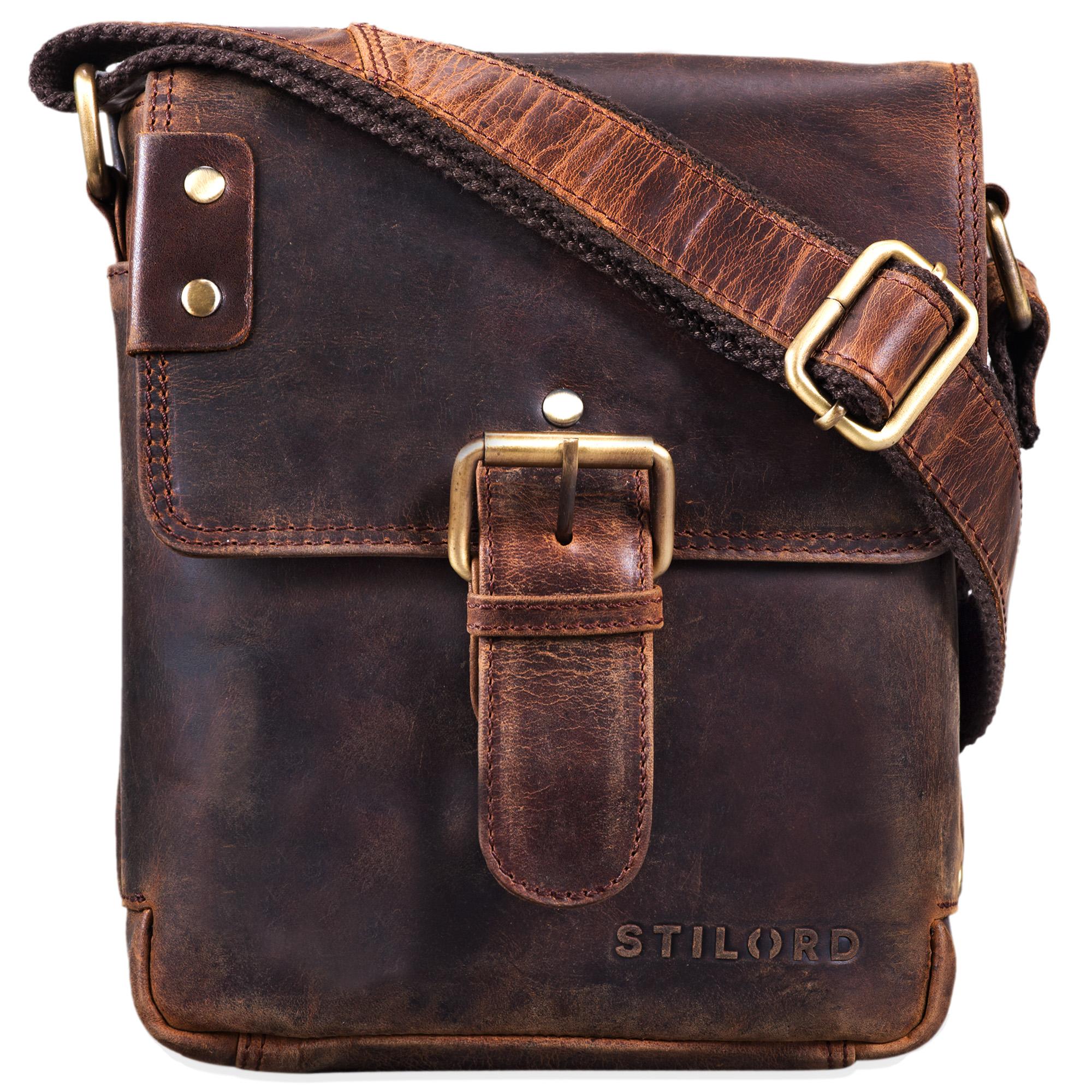 """STILORD """"Alessio"""" Leder Messenger Bag Männer klein Vintage Umhängetasche Herrentasche Tablettasche Schultertasche aus echtem Leder - Bild 3"""