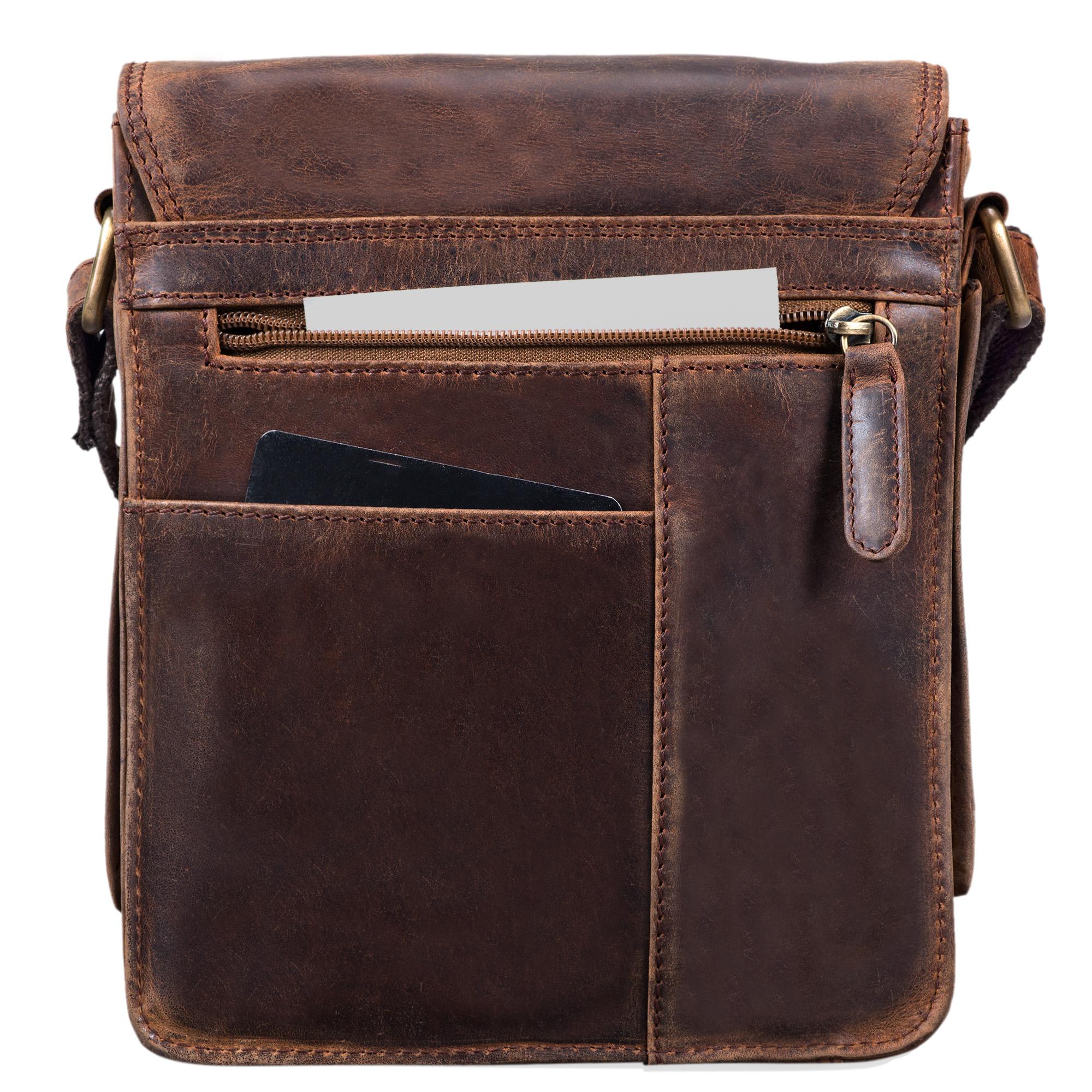 """STILORD """"Alessio"""" Leder Messenger Bag Männer klein Vintage Umhängetasche Herrentasche Tablettasche Schultertasche aus echtem Leder - Bild 6"""