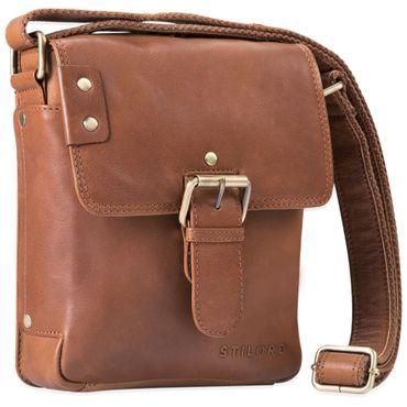 """STILORD """"Alessio"""" Leder Messenger Bag Männer klein Vintage Umhängetasche Herrentasche Tablettasche Schultertasche aus echtem Leder – Bild 8"""