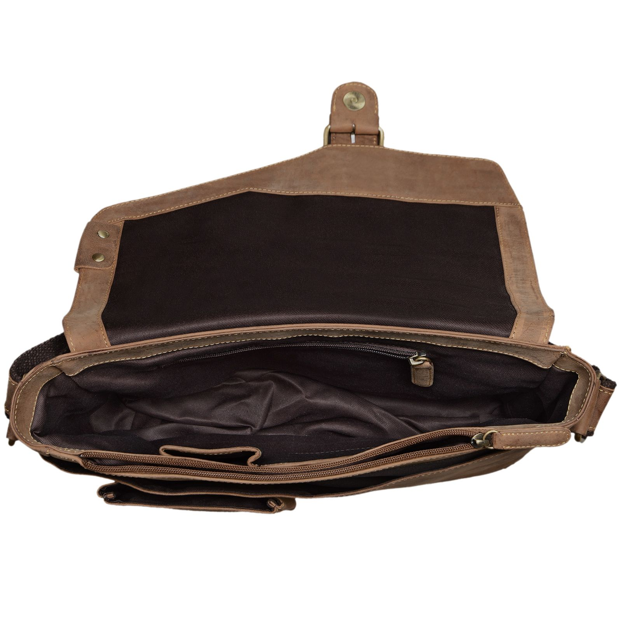 """STILORD """"Tim"""" Messenger Bag Leder für 13,3 Zoll MacBooktasche DIN A4 Herren Damen Vintage Umhängetasche Messengertasche Unitasche Büchertasche Echtleder - Bild 11"""