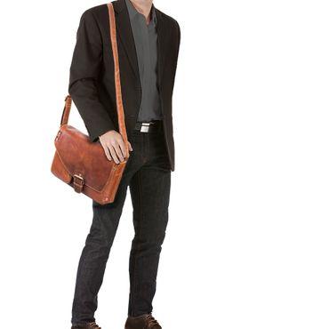 Messenger Bag Leder mittelgroß