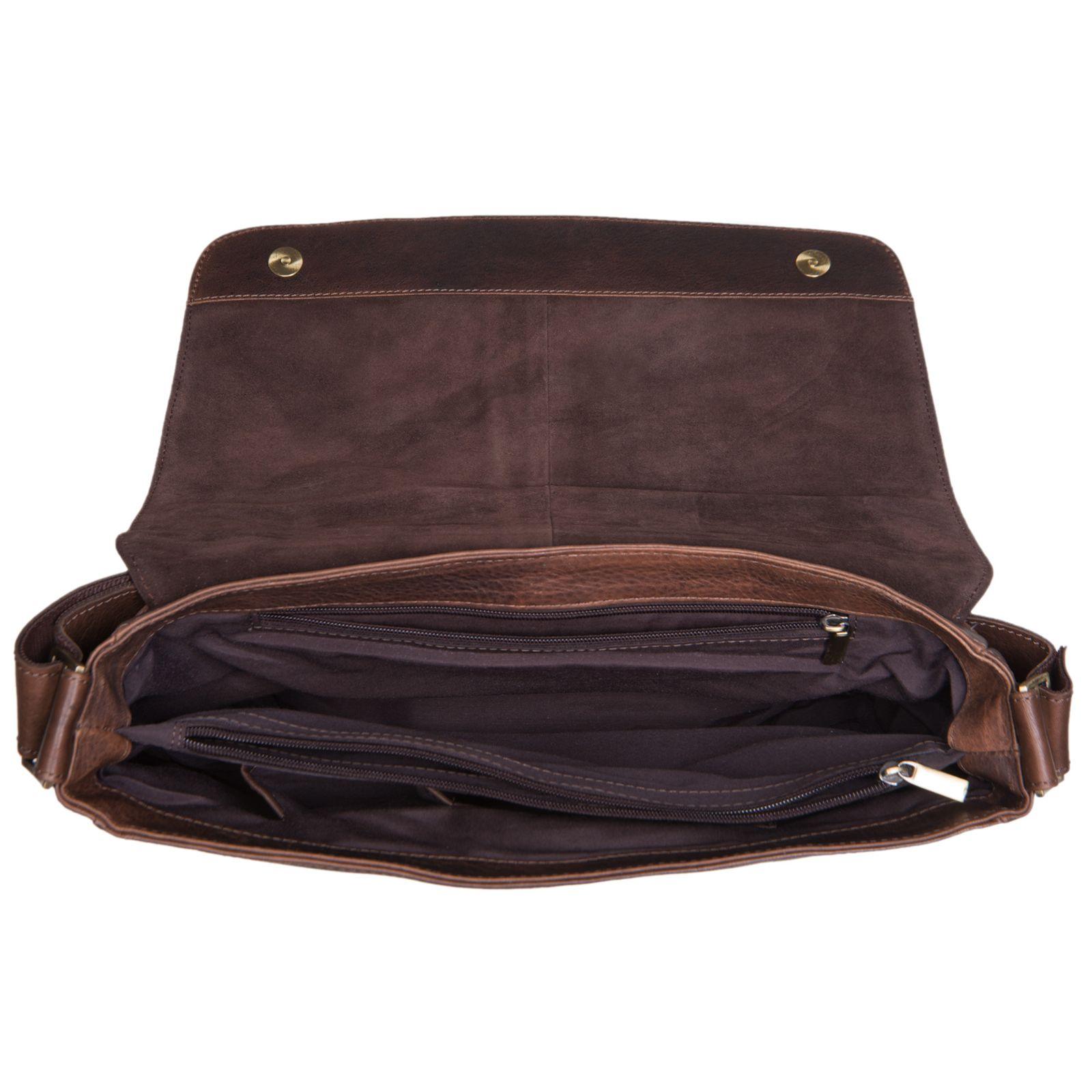 """STILORD """"Miro"""" Messenger Bag Leder Umhängetasche 14 Zoll Vintage Design für Herren Damen Uni Büro Arbeit Aktentasche DIN A4 Laptoptasche Echtleder - Bild 4"""