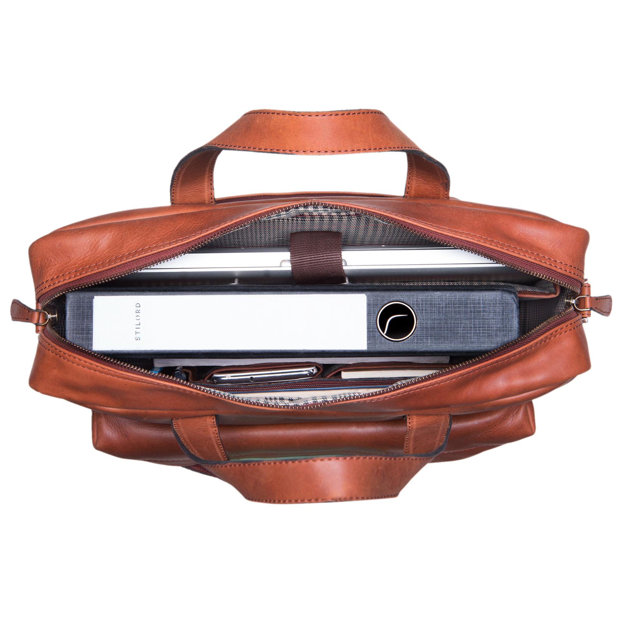 Leder Aktentasche DIN A4 groß