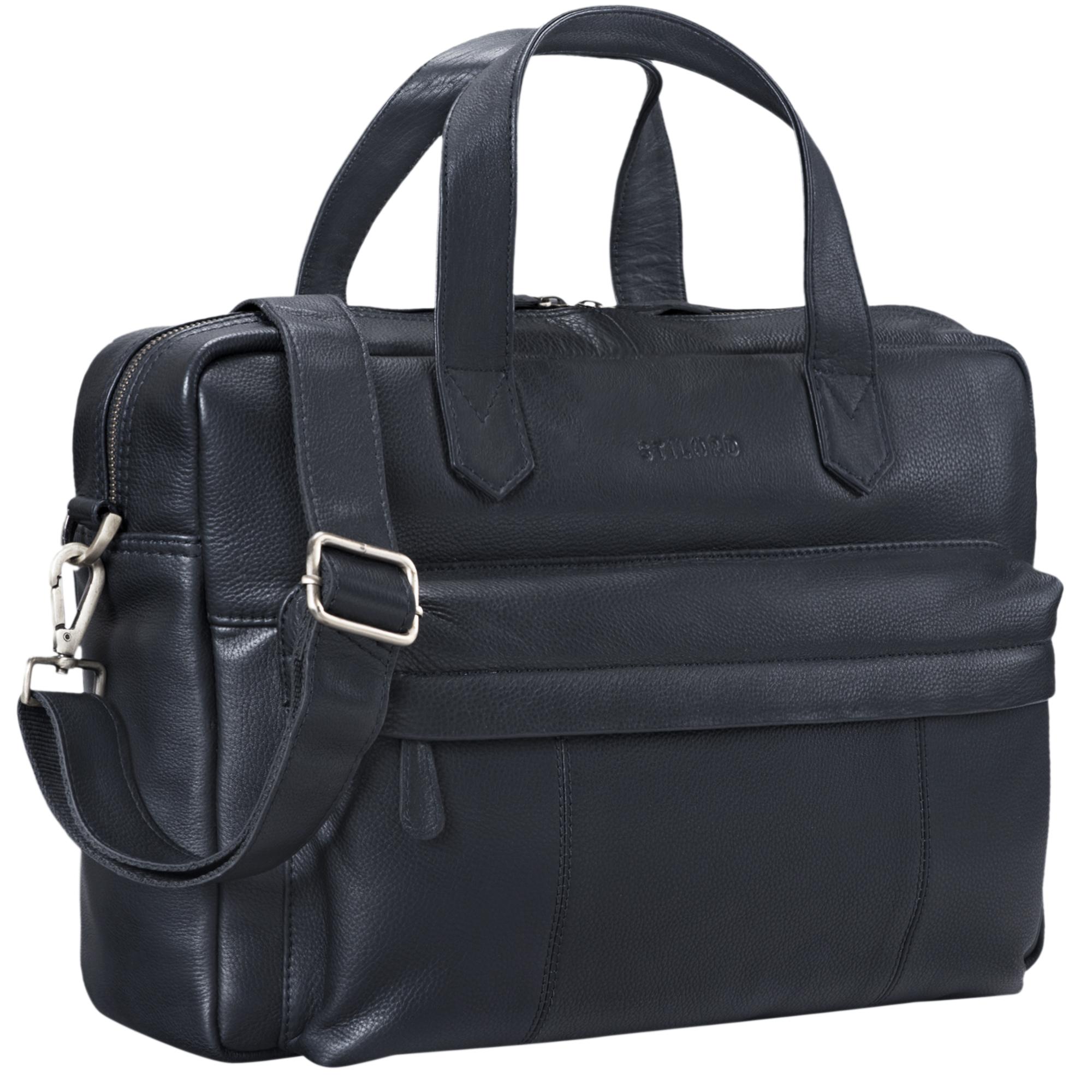 """STILORD """"Erich"""" Vintage Leder Bürotasche große Umhängetasche für Herren und Damen mit 15.6 Zoll Laptop-Fach elegante Aktentasche DIN A4 für Business Arbeit Uni - Bild 10"""
