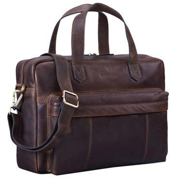 """STILORD """"Erich"""" Vintage Leder Bürotasche große Umhängetasche für Herren und Damen mit 15.6 Zoll Laptop-Fach elegante Aktentasche DIN A4 für Business Arbeit Uni – Bild 9"""