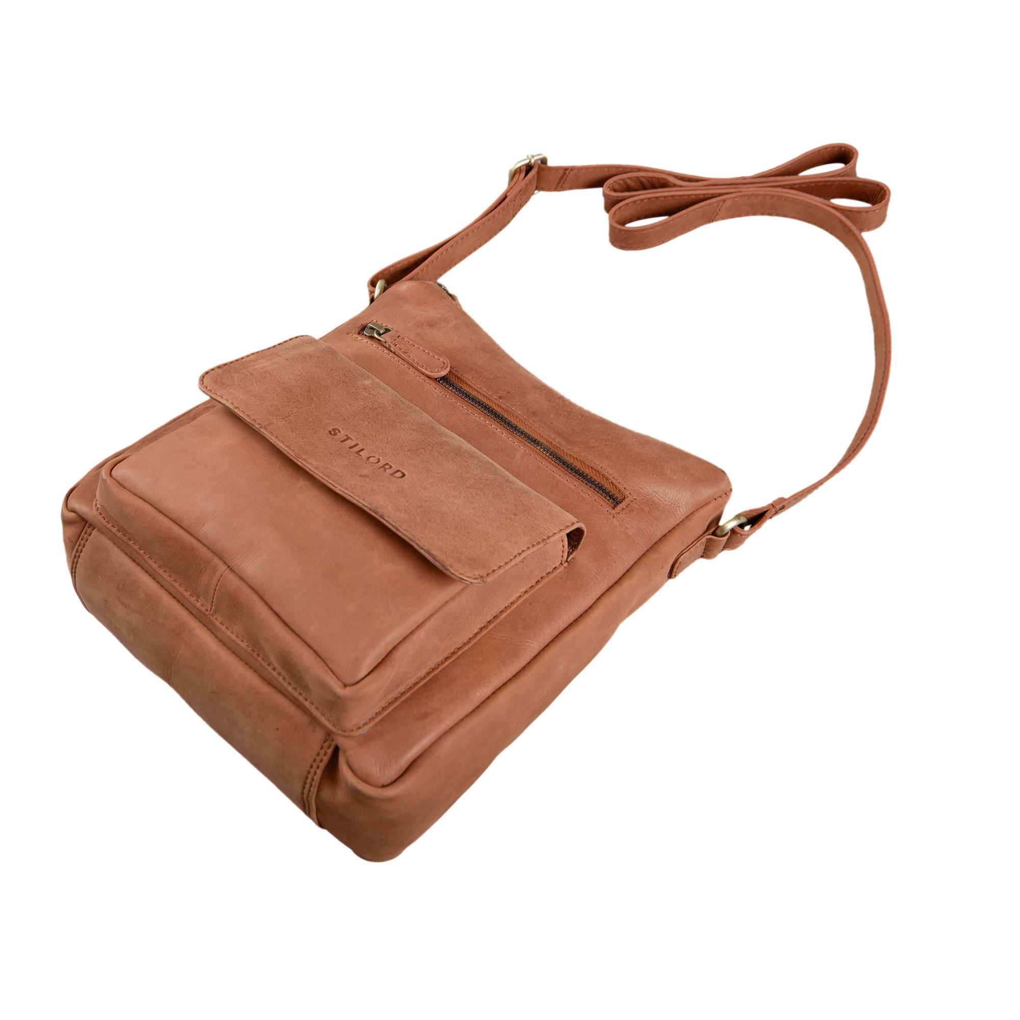 """STILORD """"Mira"""" Vintage Umhängetasche für Damen 12,2 Zoll Schultertasche Handtasche Ausgehen Freizeit Abendtasche Leder - Bild 20"""