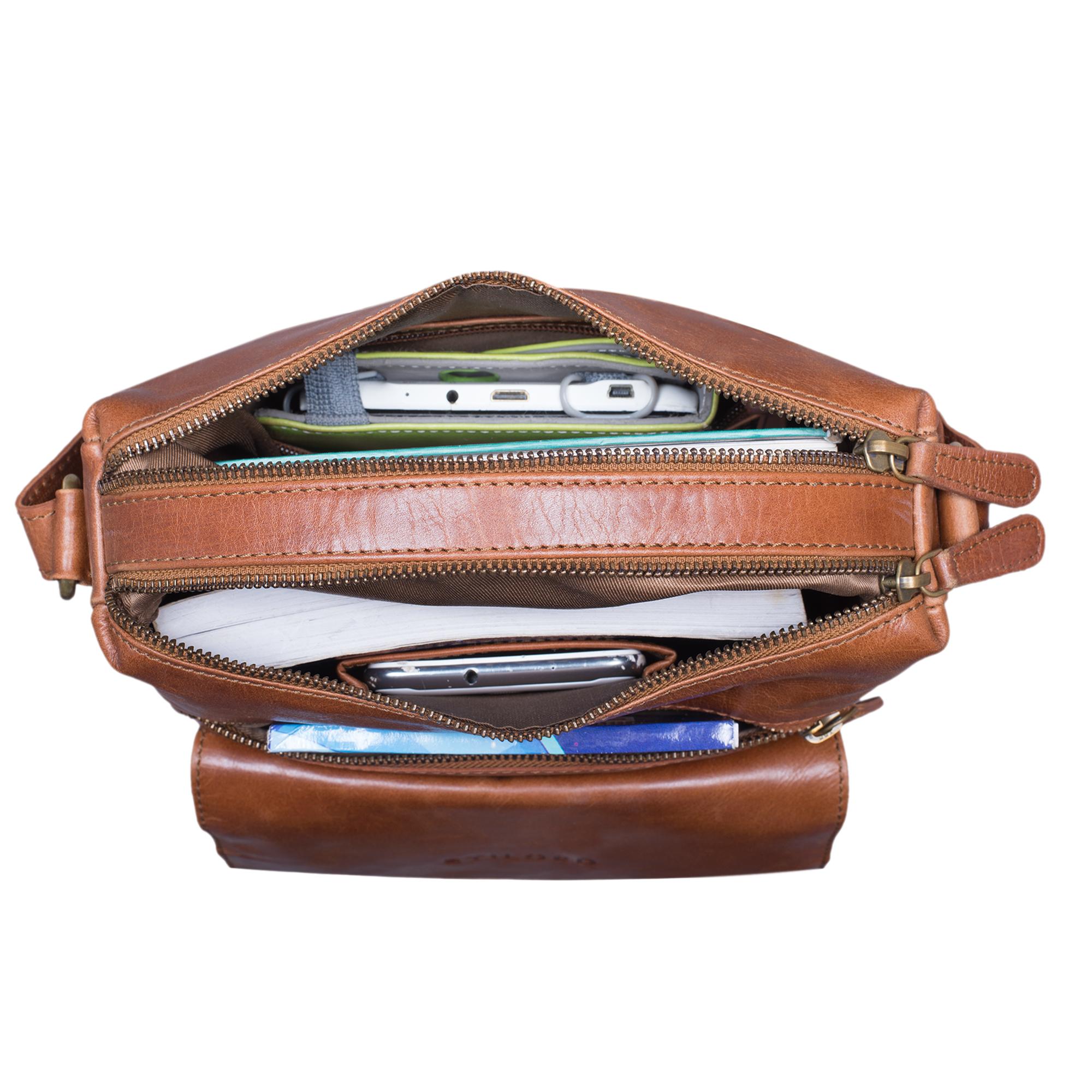 """STILORD """"Mira"""" Vintage Umhängetasche für Damen 12,2 Zoll Schultertasche Handtasche Ausgehen Freizeit Abendtasche Leder - Bild 12"""
