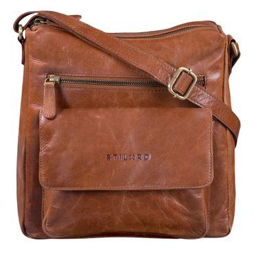 """STILORD """"Mira"""" Vintage Umhängetasche für Damen 12,2 Zoll Schultertasche Handtasche Ausgehen Freizeit Abendtasche Leder – Bild 9"""