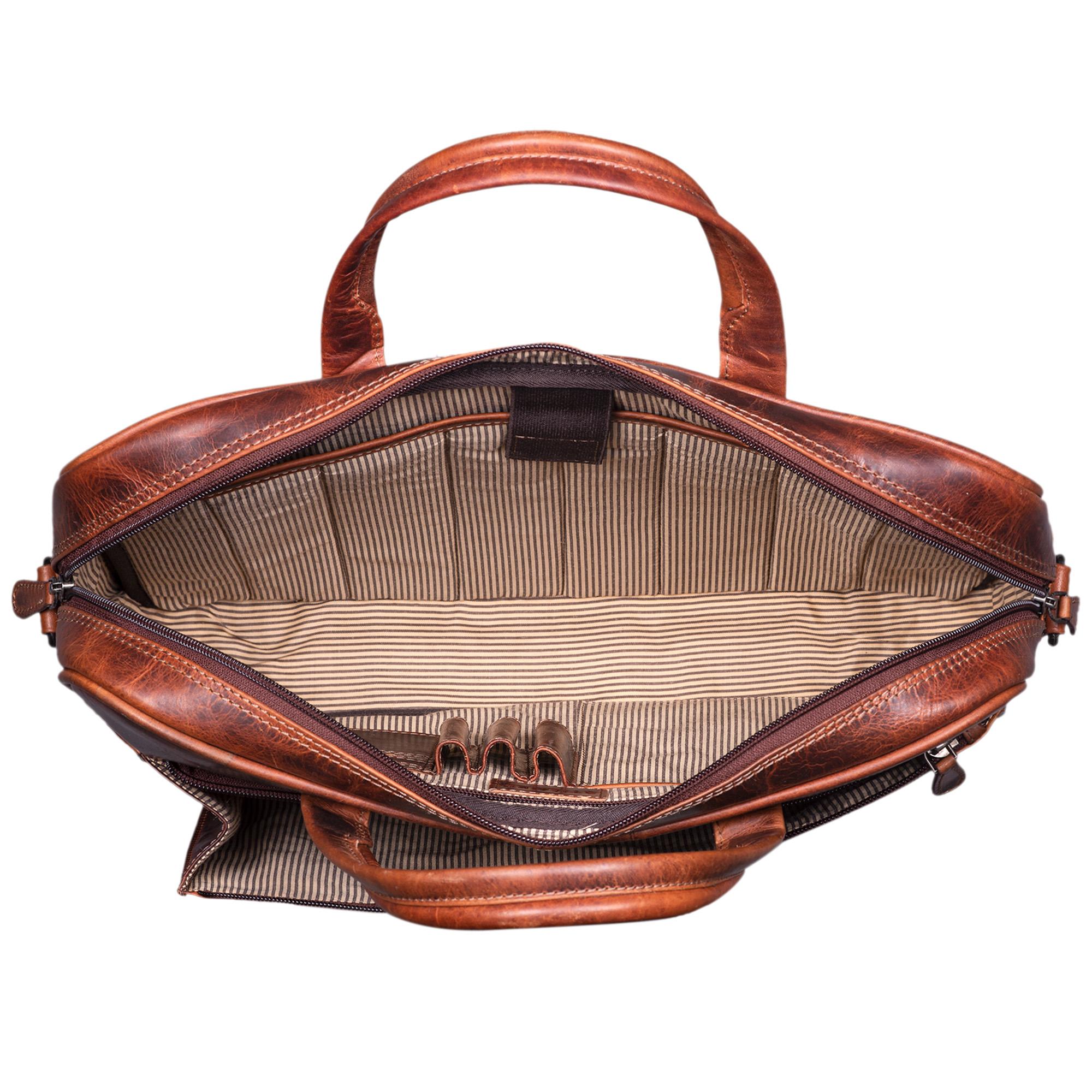 """STILORD """"Phoenix"""" Vintage Businesstasche Leder mit Schultergurt für MacBooks 13,3 Zoll Laptoptasche elegante Umhängetasche Aktentasche aufsteckbar  - Bild 4"""