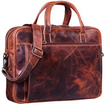 Vintage Businesstasche Leder aufsteckbar