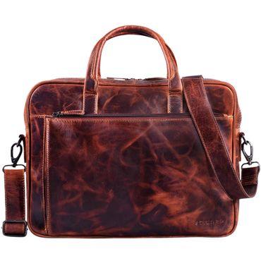 """STILORD """"Phoenix"""" Vintage Businesstasche Leder mit Schultergurt für MacBooks 13,3 Zoll Laptoptasche elegante Umhängetasche Aktentasche aufsteckbar  – Bild 3"""