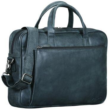 """STILORD """"Phoenix"""" Vintage Businesstasche Leder mit Schultergurt für MacBooks 13,3 Zoll Laptoptasche elegante Umhängetasche Aktentasche aufsteckbar  – Bild 8"""