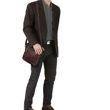 """STILORD """"Quentin"""" kleine Ledertasche Herren Umhängetasche für iPad Hülle 10,1 Zoll Tablettasche Herrentasche Messenger Bag Vintage Rindsleder  – Bild 2"""