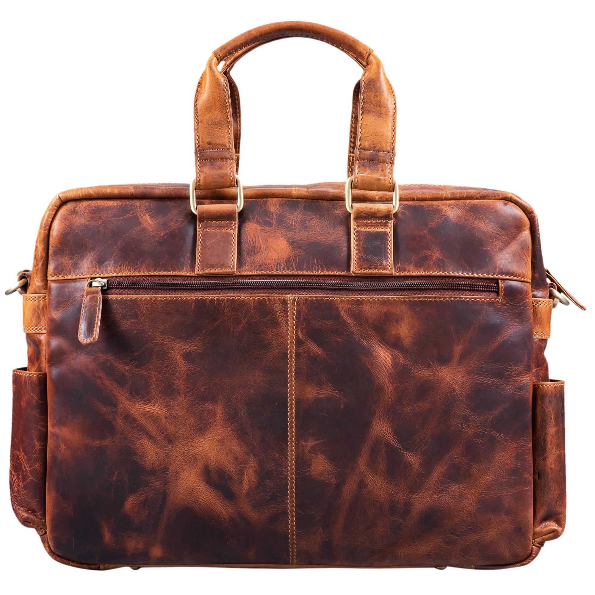 """STILORD """"Pablo"""" Vintage Ledertasche Laptoptasche für 15.6 Zoll Notebooks große Umhängetasche für Arbeit Büro Uni mit Schultergurt und Laptop-Fach echtes Leder - Bild 14"""