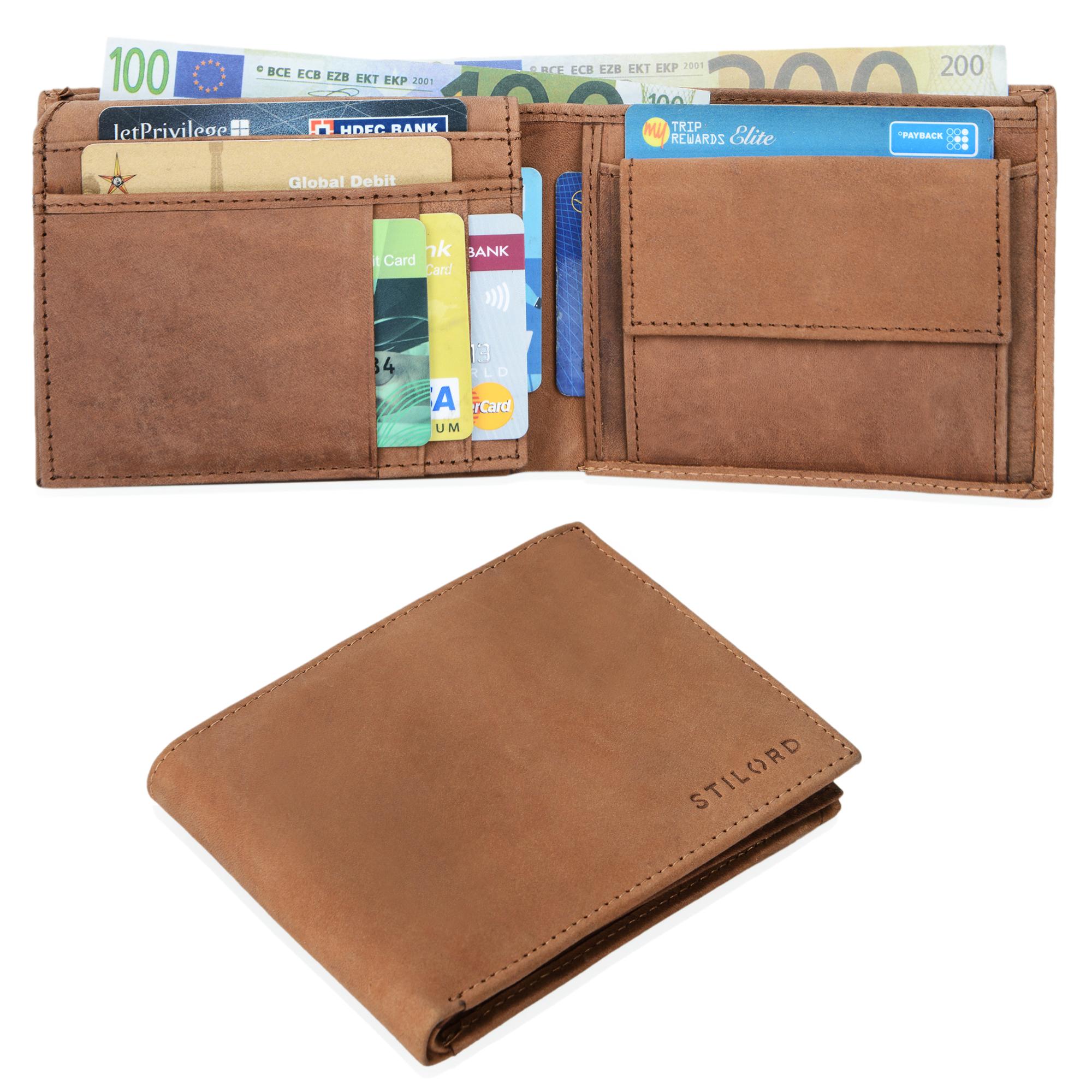 """STILORD """"Emmett"""" Geldbeutel Leder Portemonnaie Geldbörse Herren Damen Brieftasche aus echtem Leder Vintage Design - Bild 18"""