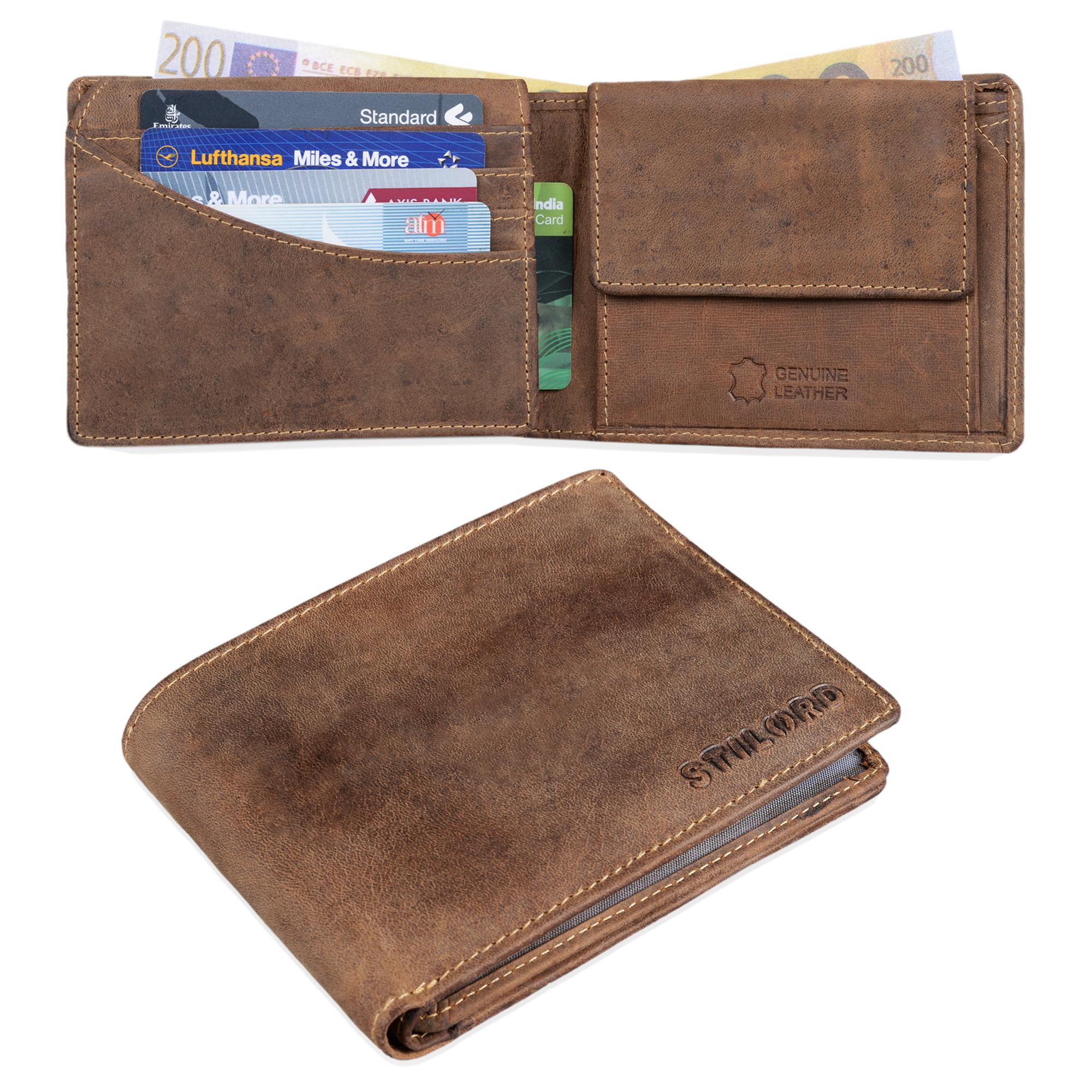 """STILORD """"Ethan"""" Vintage Leder Geldbörse Herren Portemonnaie Geldbeutel mit 7 EC Karten-Fächer Münzfach und Ausweisfach Brieftasche aus echtem Leder - Bild 2"""