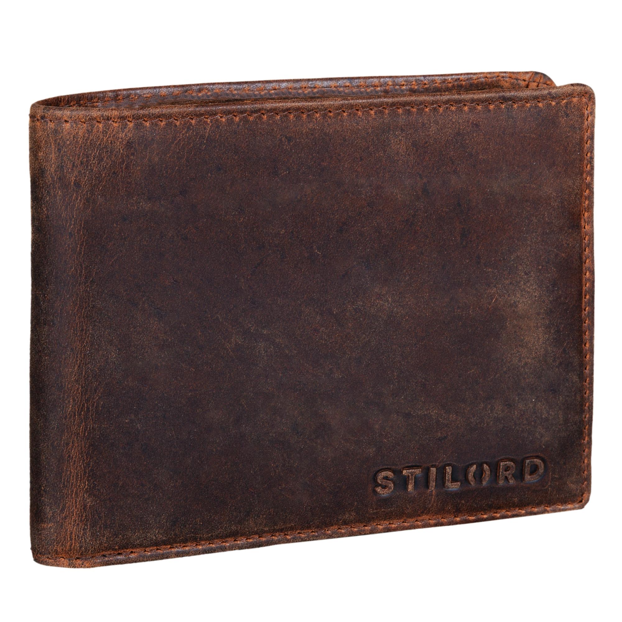 """STILORD """"Ethan"""" Vintage Leder Geldbörse Herren Portemonnaie Geldbeutel mit 7 EC Karten-Fächer Münzfach und Ausweisfach Brieftasche aus echtem Leder - Bild 9"""