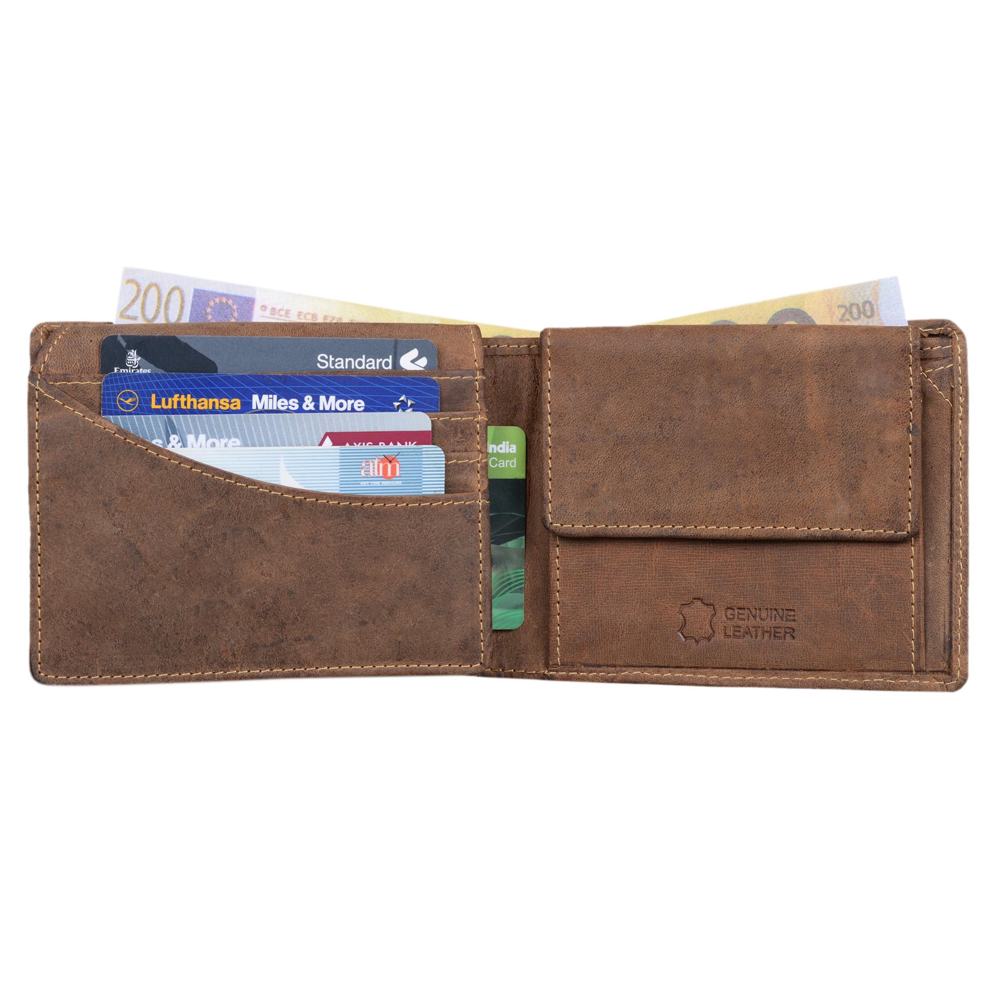 """STILORD """"Ethan"""" Vintage Leder Geldbörse Herren Portemonnaie Geldbeutel mit 7 EC Karten-Fächer Münzfach und Ausweisfach Brieftasche aus echtem Leder - Bild 4"""