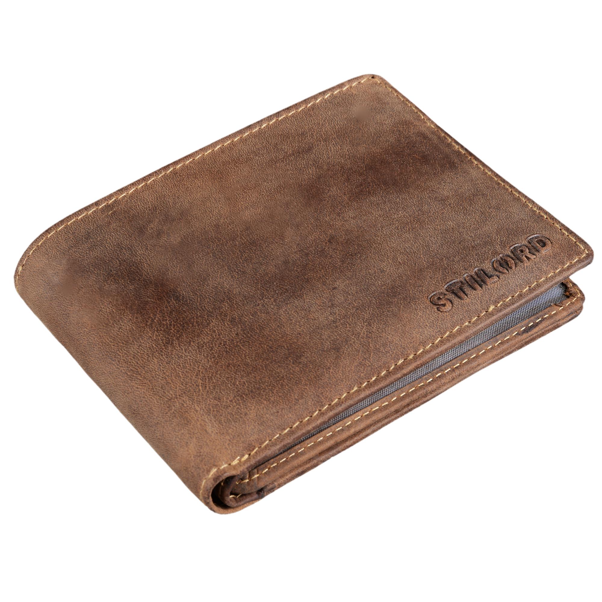 """STILORD """"Ethan"""" Vintage Leder Geldbörse Herren Portemonnaie Geldbeutel mit 7 EC Karten-Fächer Münzfach und Ausweisfach Brieftasche aus echtem Leder - Bild 3"""