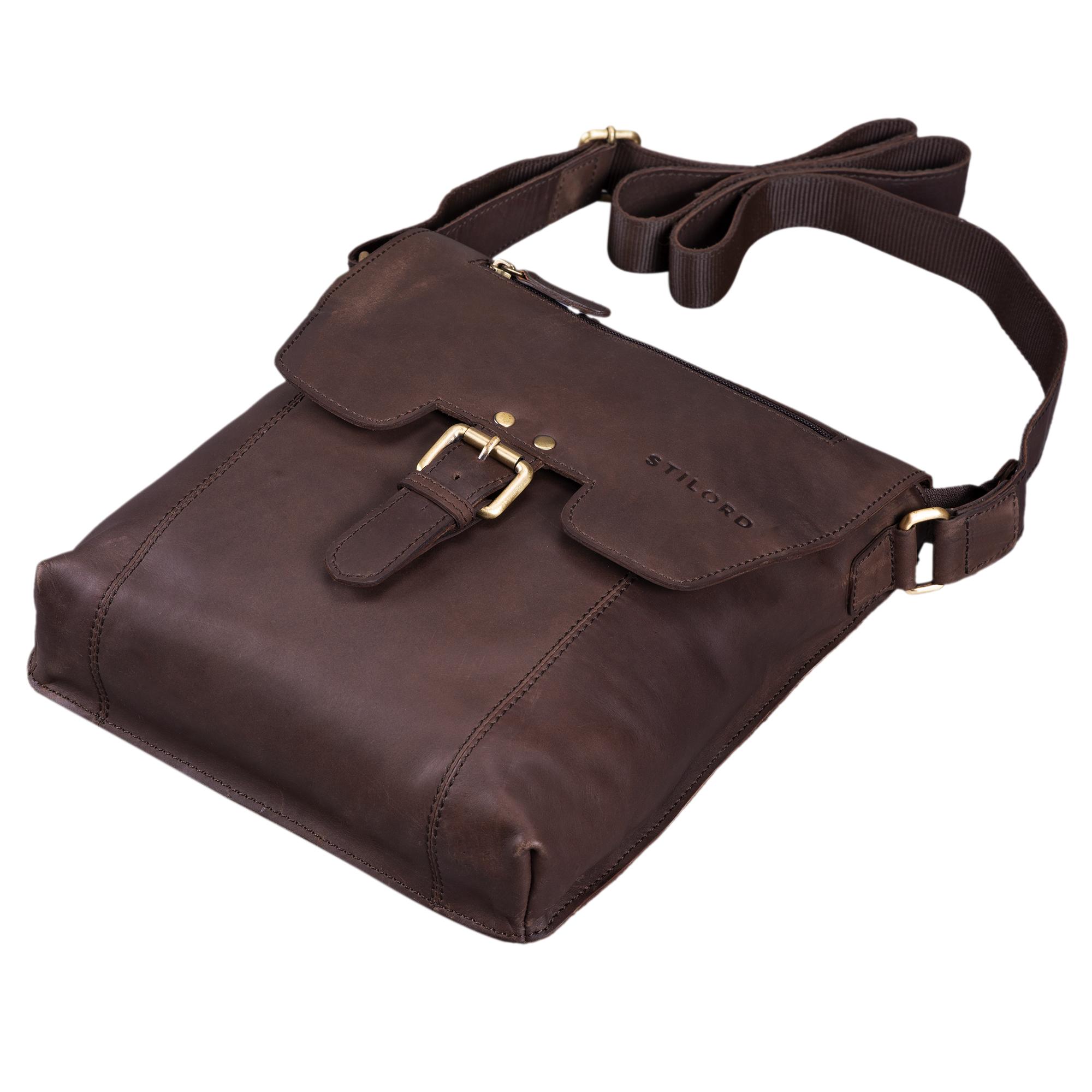 Vintage Messenger Bag Leder Herren braun