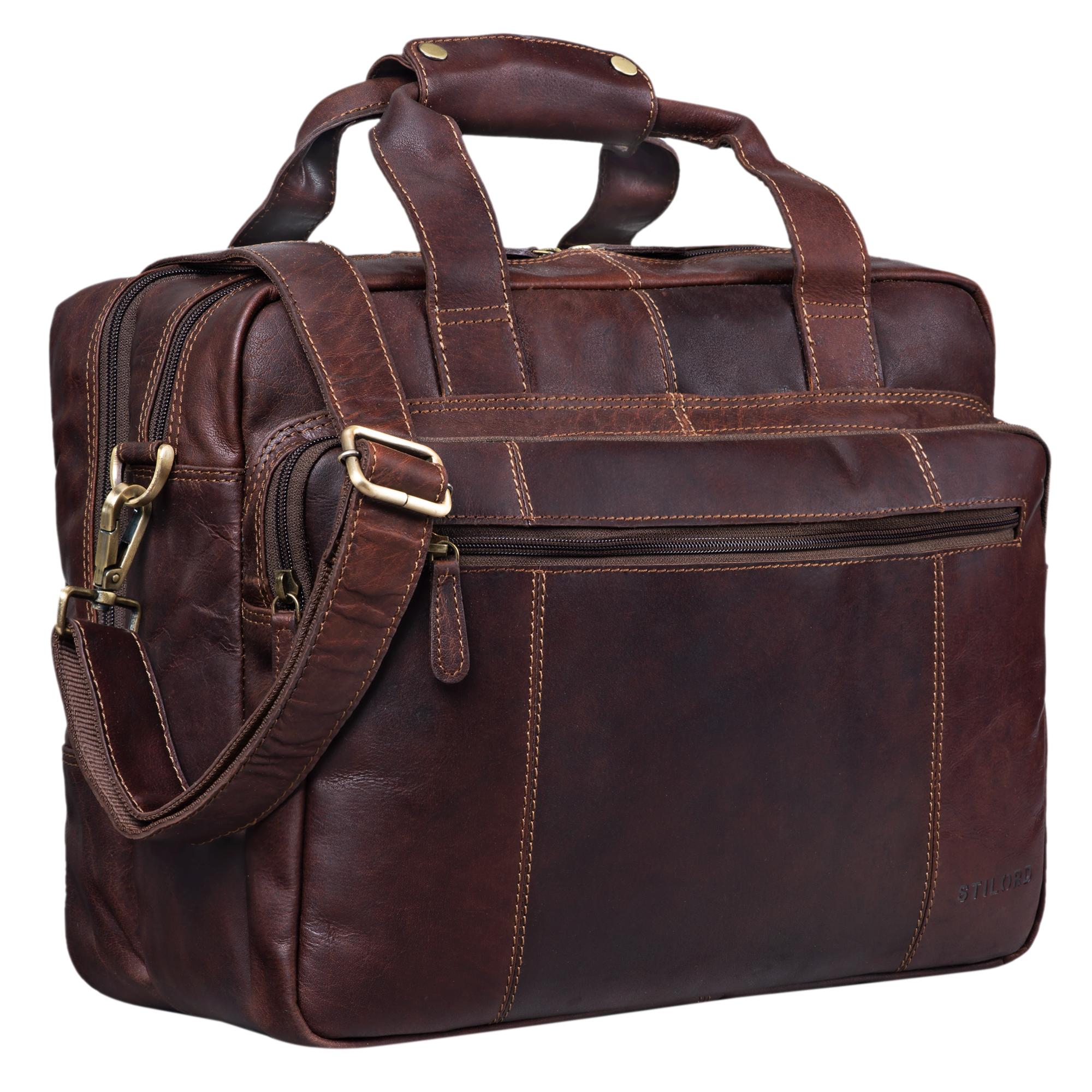 Vintage Leder Lehrertasche Herren XL
