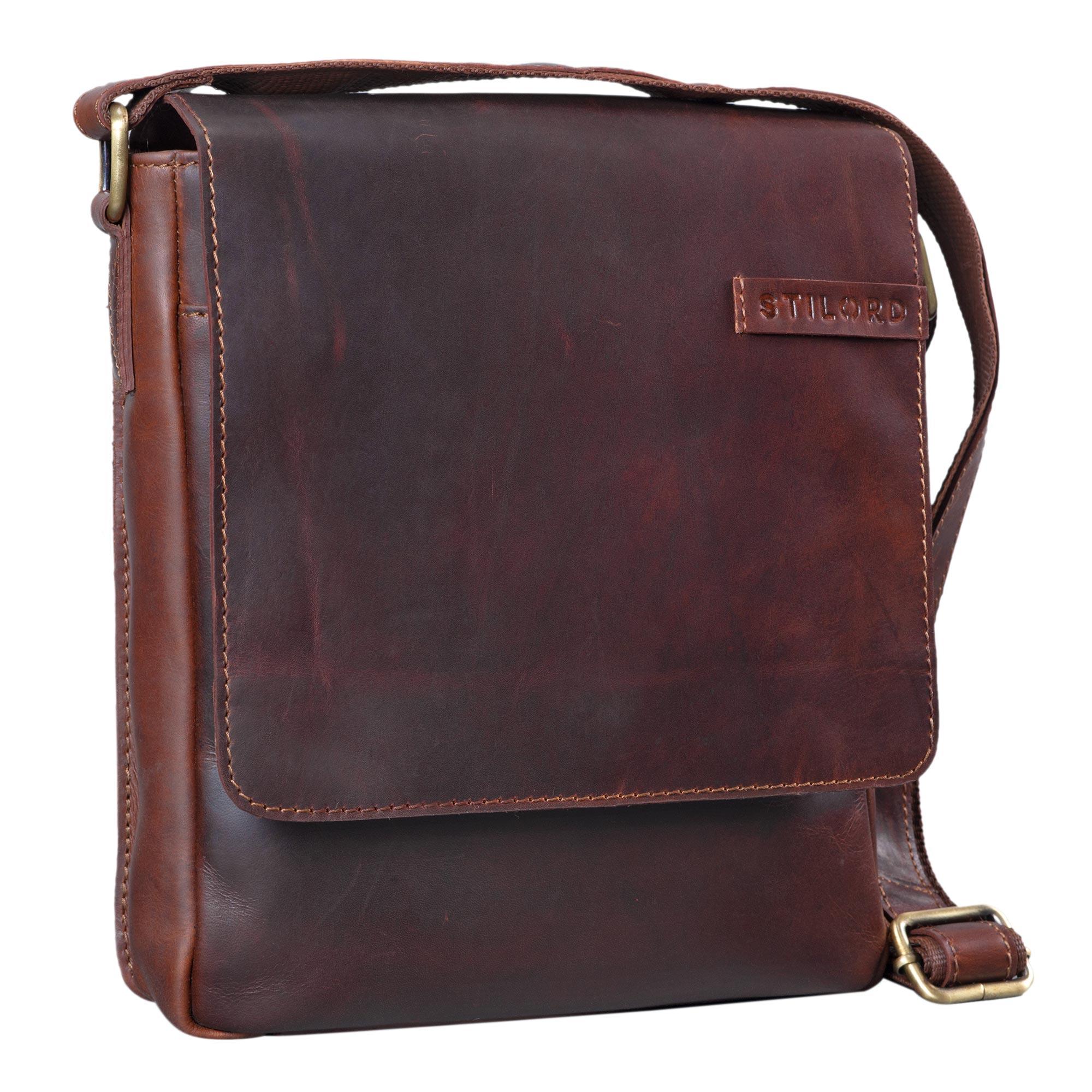 """STILORD """"Dario"""" Männer Umhängetasche Leder Vintage Messenger Bag für iPad 9,7 - 10,1 Zoll Tablettasche klein Schultertasche echtes Leder - Bild 8"""