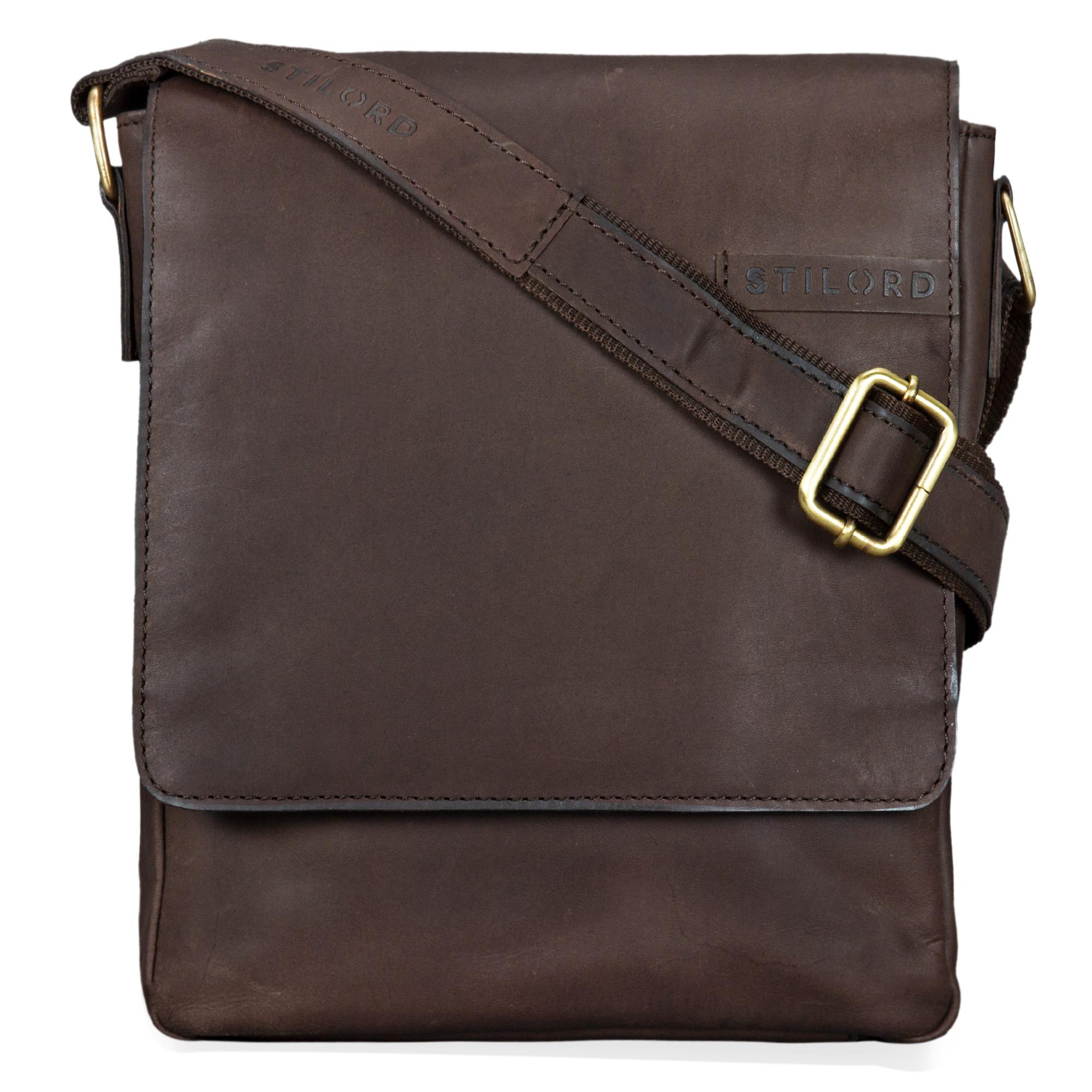"""STILORD """"Dario"""" Männer Umhängetasche Leder Vintage Messenger Bag für iPad 9,7 - 10,1 Zoll Tablettasche klein Schultertasche echtes Leder - Bild 3"""
