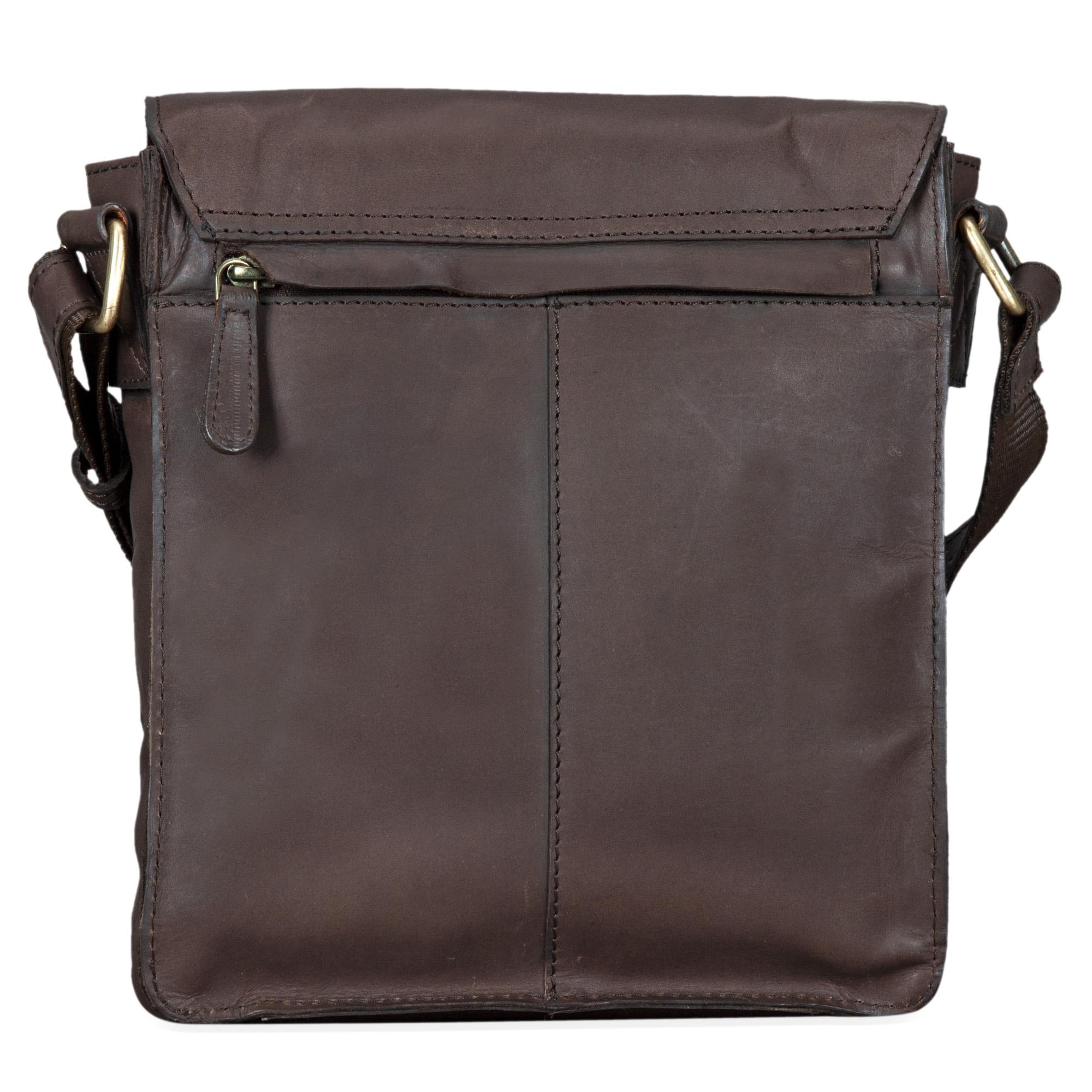"""STILORD """"Dario"""" Männer Umhängetasche Leder Vintage Messenger Bag für iPad 9,7 - 10,1 Zoll Tablettasche klein Schultertasche echtes Leder - Bild 7"""