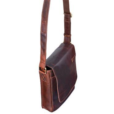 """STILORD """"Dario"""" Männer Umhängetasche Leder Vintage Messenger Bag für iPad 9,7 - 10,1 Zoll Tablettasche klein Schultertasche echtes Leder – Bild 14"""