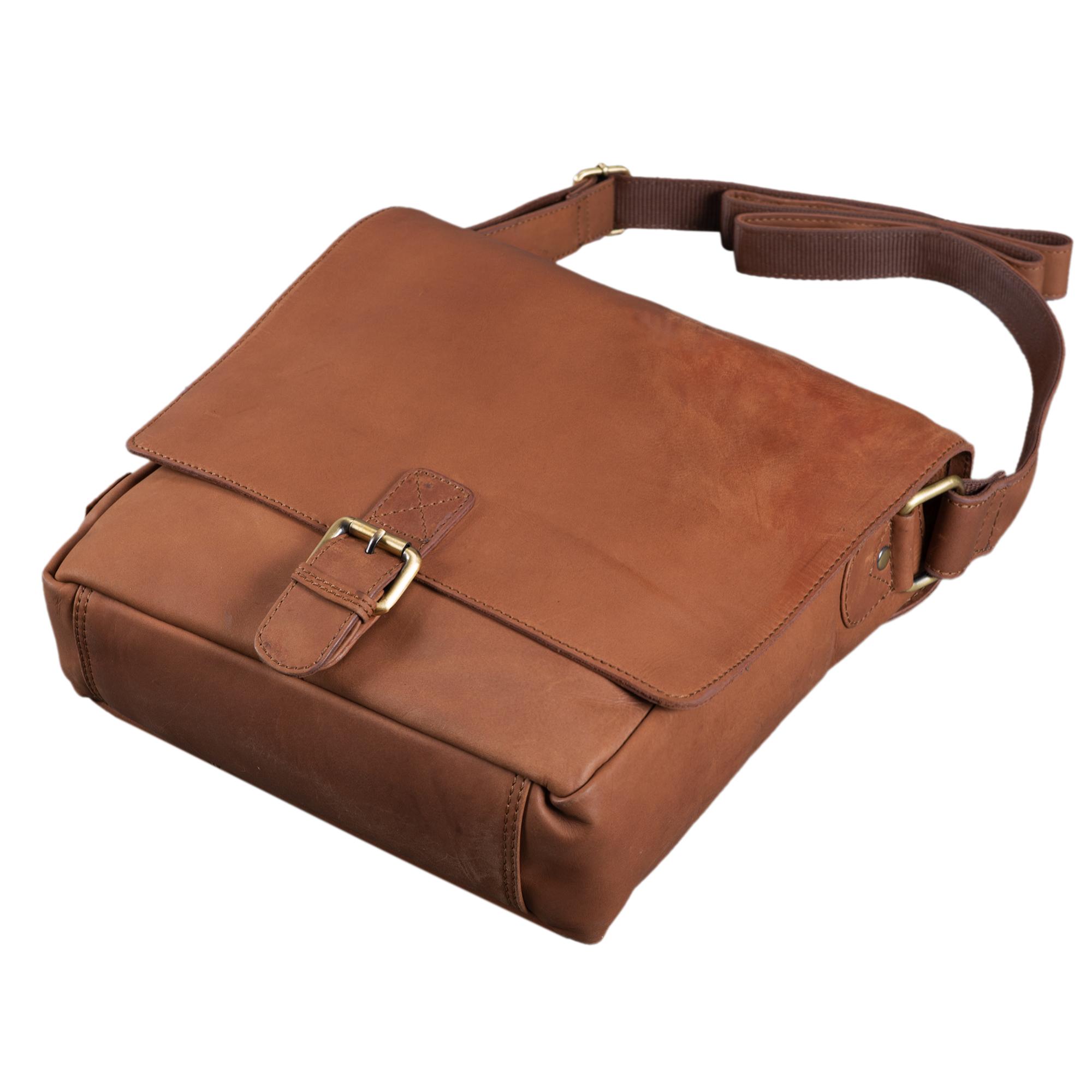 """STILORD """"Timo"""" Vintage Messenger Bag Leder klein für Herren und Damen moderne Umhängetasche für 10.1 Zoll Tablet iPad DIN A5 Cross Body Bag Echtleder - Bild 13"""