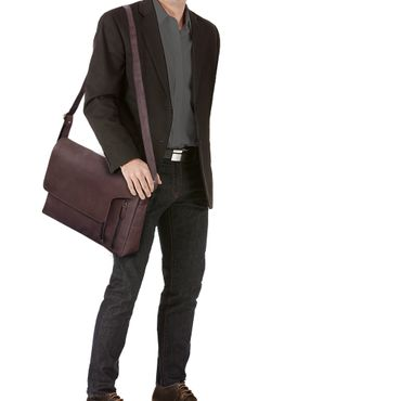 Leder Laptoptasche Messenger Bag Herren